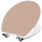 WC-Sitz Holzkern,  oval mit Softclose-Funktion