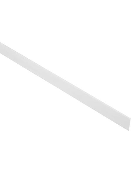 FN NEUHOFER HOLZ Abdeckleiste, Uni weiß, Kunststoff, LxHxT: 240 x 3 x 0,2 cm