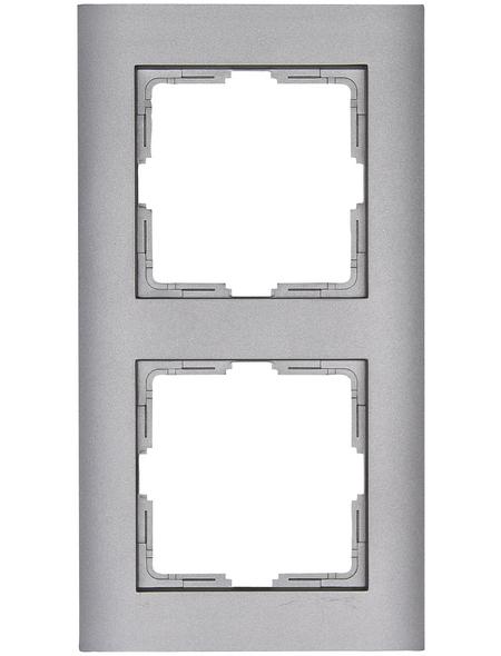 KOPP Abdeckrahmen, Serie ATHENIS, Silber, Kunststoff