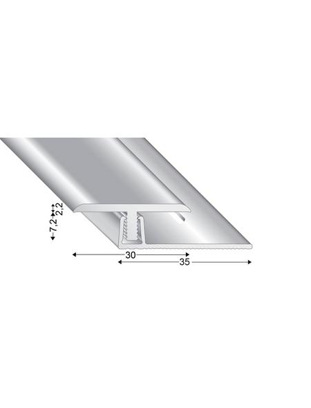 KÜGELE PROFILE Abschlussprofil Set »T-FLEX«, silberfarben, BxLxH: 30 x 2700 x verstellbar 7-13 mm