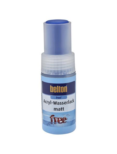 BELTON Acryl-Wasserlack »free«, 9 ml, enzianblau