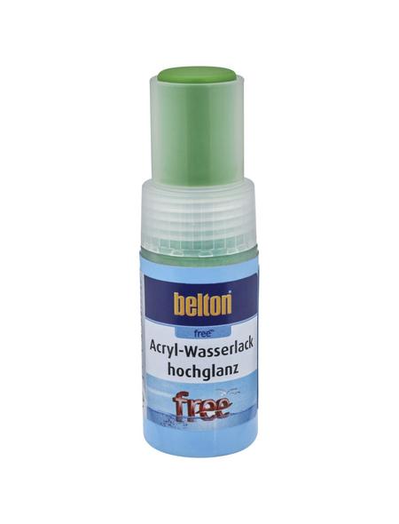 BELTON Acryl-Wasserlack »free«, 9 ml, gelbgrün