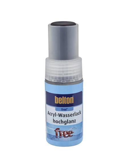 BELTON Acryl-Wasserlack »free«, 9 ml, tiefschwarz