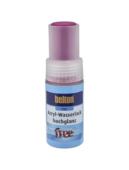 BELTON Acryl-Wasserlack »free«, 9 ml, verkehrspurpur