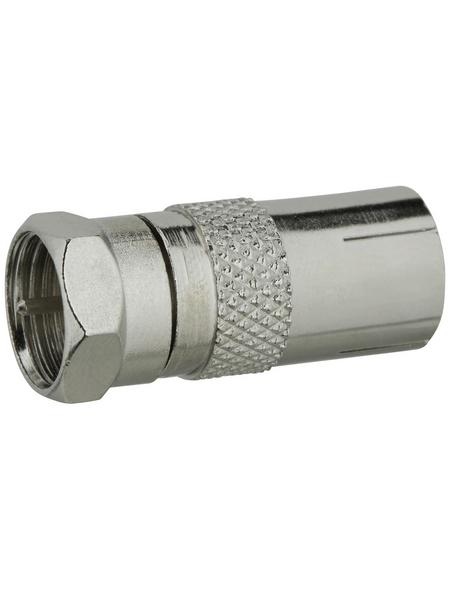 SCHWAIGER Adapter, Silber, Metall, Kabel mit IEC-Stecker und F-Buchse