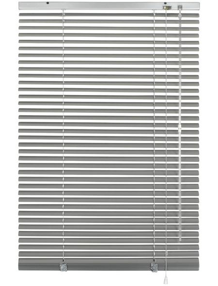 Aluminium-Jalousie, Silber, 110x175 cm