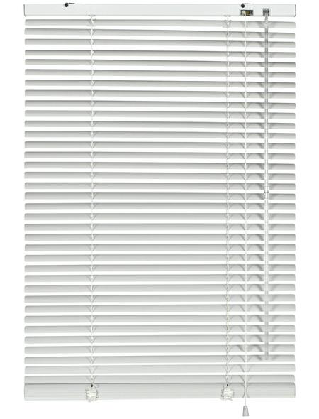 Aluminium-Jalousie, Weiß, 110x175 cm