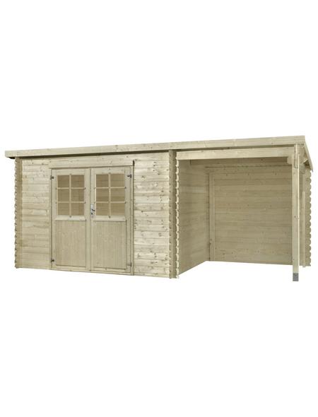 MR. GARDENER Anbau für Blockbohlenhaus »Malta 1«, Holz