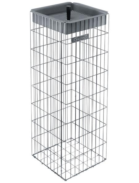 BELLISSA Aschenbecher, BxHxL: 29 x 81 x 29 cm, edelstahl/stahl