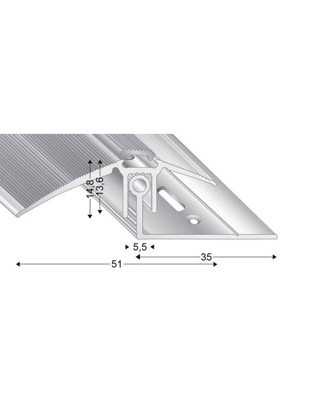 KÜGELE PROFILE Ausgleichsprofil-Set »TRIO GRIP® x«, silberfarben, BxLxH: 51 x 2700 x verstellbar 13-21 mm