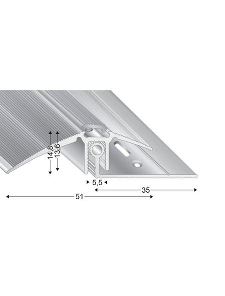 KÜGELE PROFILE Ausgleichsprofil-Set »TRIO GRIP® x«, silberfarben, BxLxH: 51 x 2700 x verstellbar 7,5-16,5 mm