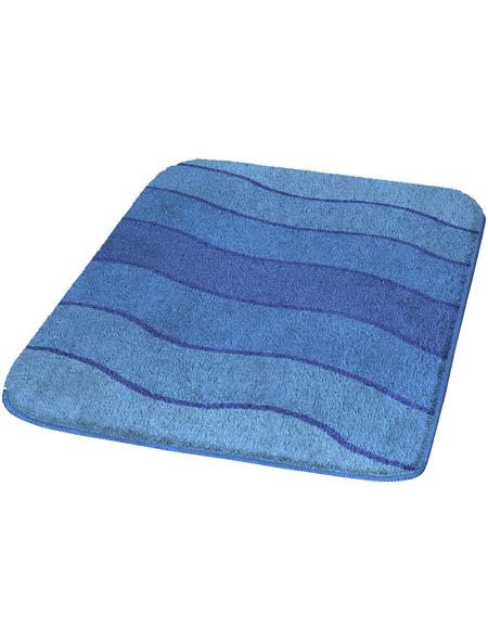 KLEINE WOLKE Badematte »Helena«, blau, abgerundet, 60 x 90 cm