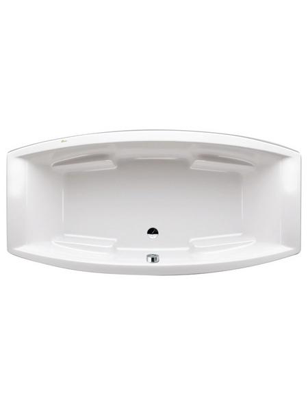 Badewanne, Oval, Acryl, B 95 x L 200 cm