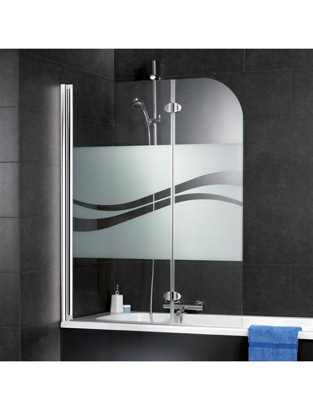 SCHULTE Badewannentrennwand »Liane Express Plus«, BxH: 110 x 140 cm, Einscheiben-Sicherheitsglas (ESG)