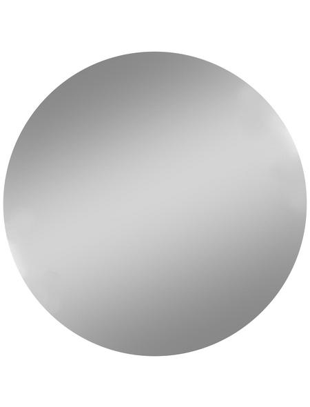 KRISTALLFORM Badspiegel »Plato«, rund, Ø 50 cm, silberfarben