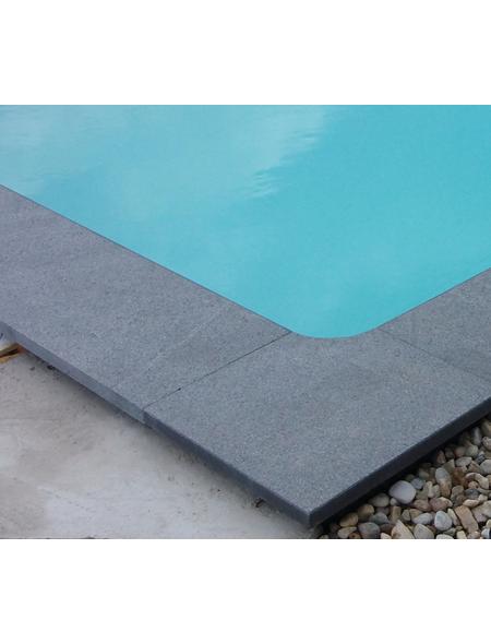 KWAD Beckenrandsteine, Set, geeignet für: Rechteckpool, 700x350 cm
