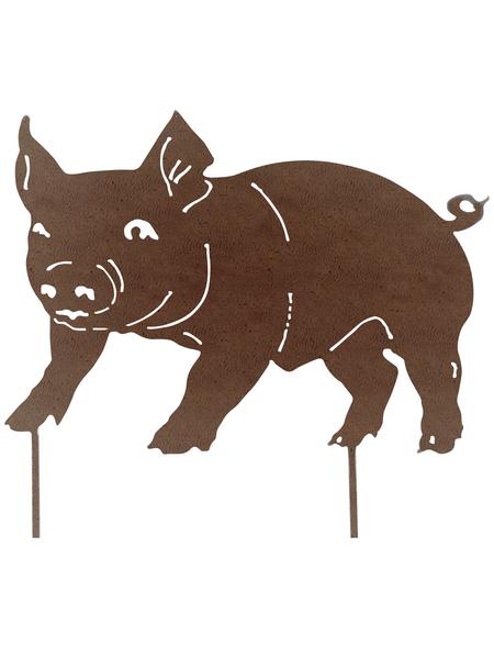 Beetstecker, Schwein, rostfarben, Metall