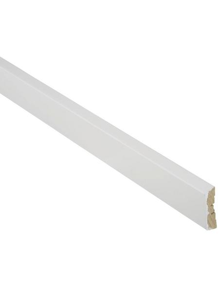 FN NEUHOFER HOLZ Bekleidungsleiste, weiß, MDF, LxHxT: 240 x 6,2 x 1,6 cm