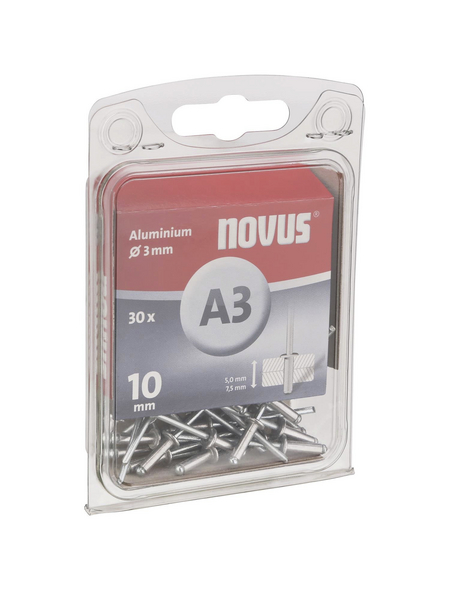 NOVUS Blindniet, A3, Aluminium, Ø 3 x 10 mm, 30 St.