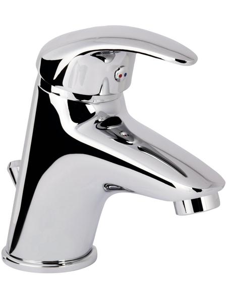 "aquaSu® Brausearmatur »NICO«, Messing, spiegelnd, ⅜"", inkl. Ablaufgarnitur"