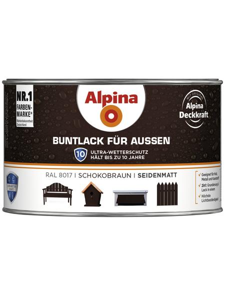 alpina Buntlack, braun , seidenmatt