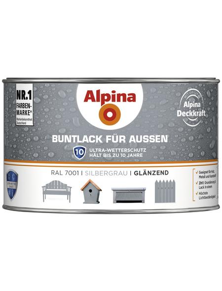 alpina Buntlack, grau , glänzend
