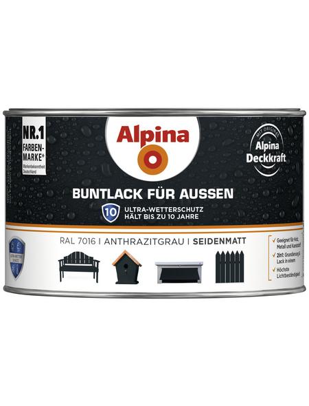 alpina Buntlack, grau , seidenmatt