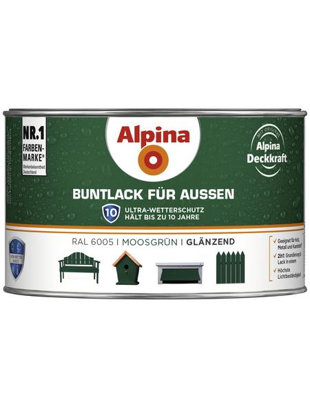 alpina Buntlack, grün , glänzend