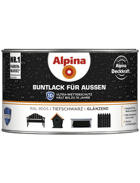 alpina Buntlack, schwarz , glänzend