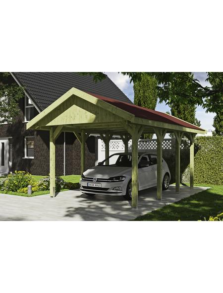 SKANHOLZ Carport »Wallgau«, Außenmaß BxT: 380 x 600 cm, grün