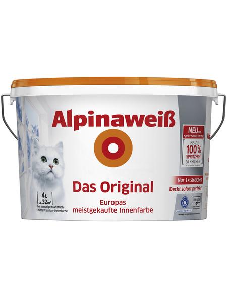 alpina Dispersionsfarbe »Alpinaweiß«, alpinweiss, matt