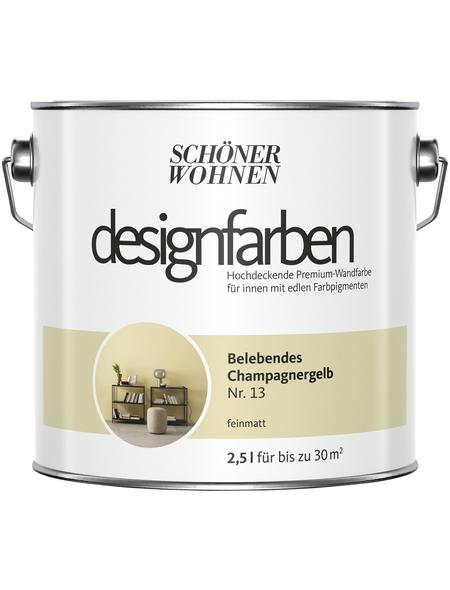 Schöner Wohnen Dispersionsfarbe »Designfarben«, Belebendes Champagnergelb, matt