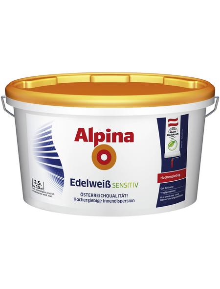 alpina Dispersionsfarbe »Edelweiß Sensitiv«, Edelweiß, matt
