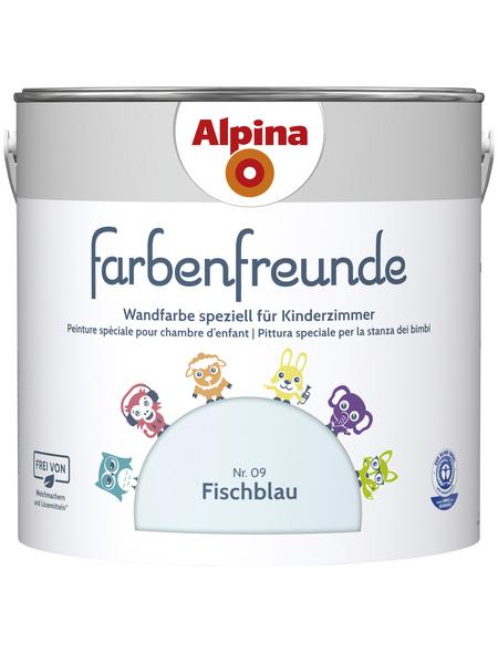 alpina Dispersionsfarbe »Farbenfreunde«, Fischblau, matt
