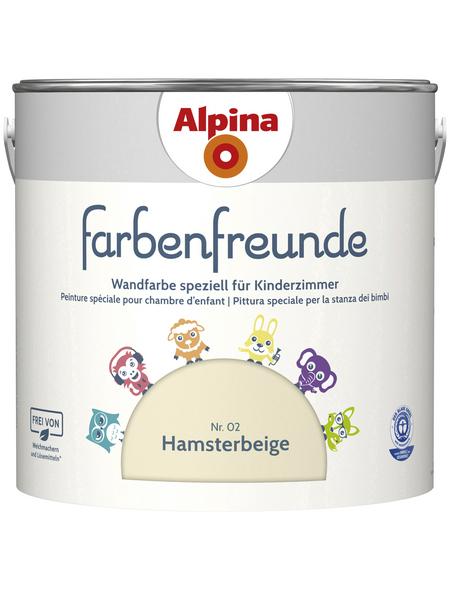 alpina Dispersionsfarbe »Farbenfreunde«, Hamsterbeige, matt