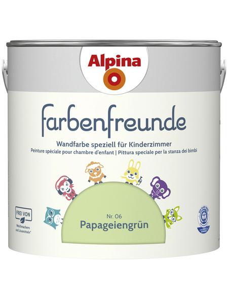 alpina Dispersionsfarbe »Farbenfreunde«, Papageiengrün, matt