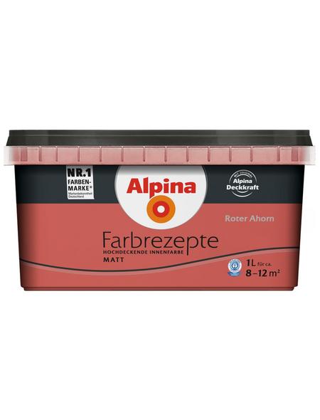 alpina Dispersionsfarbe »Farbrezepte«, Roter Ahorn, matt