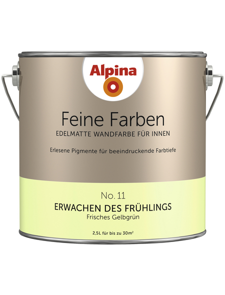 alpina Dispersionsfarbe »Feine Farben«, Erwachen des Frühlings, seidenmatt