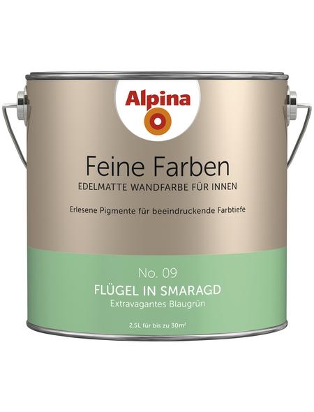 alpina Dispersionsfarbe »Feine Farben«, Flügel in Smaragd, matt