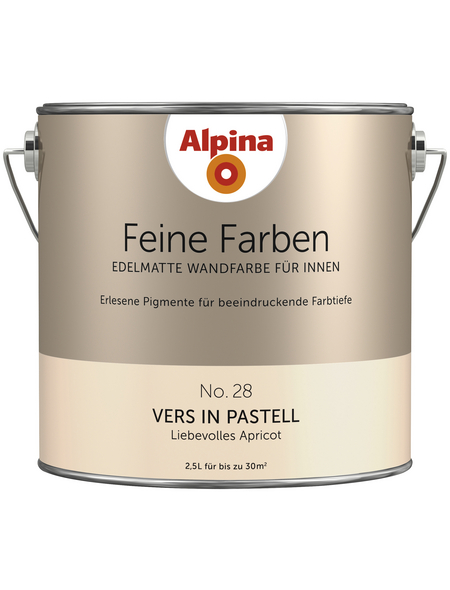 alpina Dispersionsfarbe »Feine Farben«, Vers in Pastell, matt