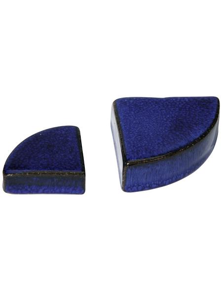 Kirschke Dreiecksfuß »TerraDura glasiert«, blau, Feinsteinzeug, dreieckig