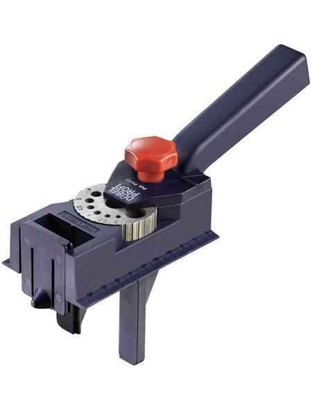 KWB Dübel-Bohr-Lehre, im 90° Winkel mit ø 3 bis 12 mm Bohrern