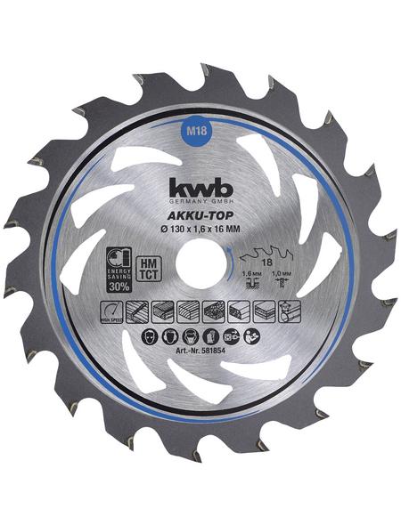 KWB Dünnschnitt-Kreissägeblatt, 130 mm, Kreissägeblatt, 130x16mm Z18