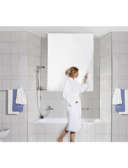 KLEINE WOLKE Duschrollo »Uni«, BxH: 140 x 240 cm, Uni, weiß