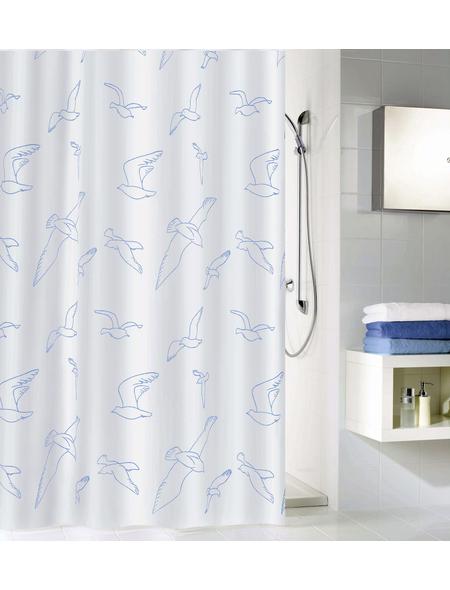 KLEINE WOLKE Duschvorhang »Birdie«, BxH: 180 x 200 cm, Vogel, weiß