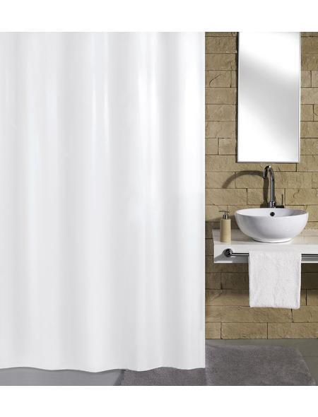 KLEINE WOLKE Duschvorhang »Kito«, BxH: 120 x 200 cm, Uni, weiß