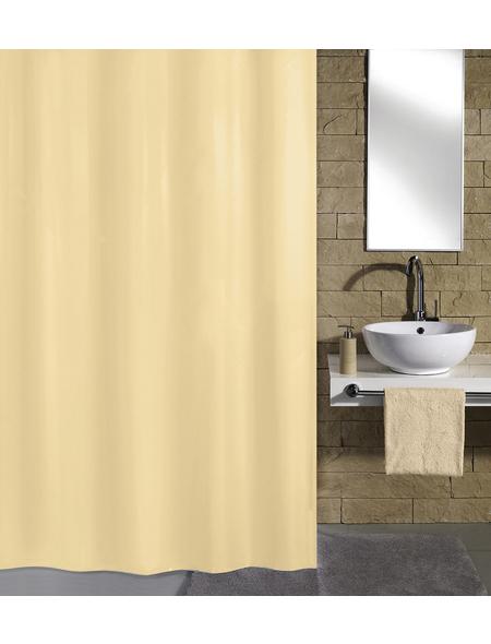 KLEINE WOLKE Duschvorhang »Kito«, BxH: 180 x 200 cm, Uni, natur/beige