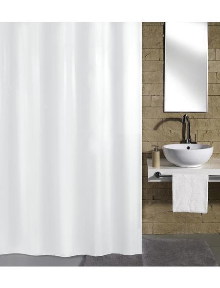 KLEINE WOLKE Duschvorhang »Kito«, BxH: 180 x 200 cm, Uni, weiß