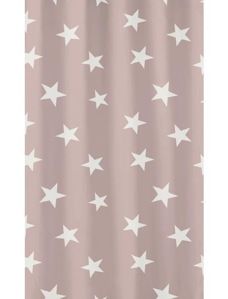 KLEINE WOLKE Duschvorhang »Nova«, BxH: 180 x 200 cm, Sterne, altrosa