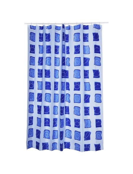 KLEINE WOLKE Duschvorhang »Sealife«, BxH: 180 x 200 cm, Tiere, blau